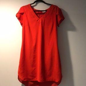Japna dress reddish orange color light weight.